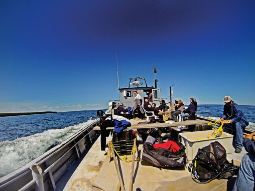 Great Lakes Exploration Group on Lake Michigan