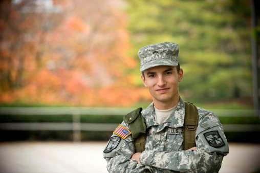 Army ROTC cadet Evan Fleming