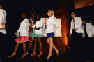 New students leaving the White Coat Ceremony in July 2013.