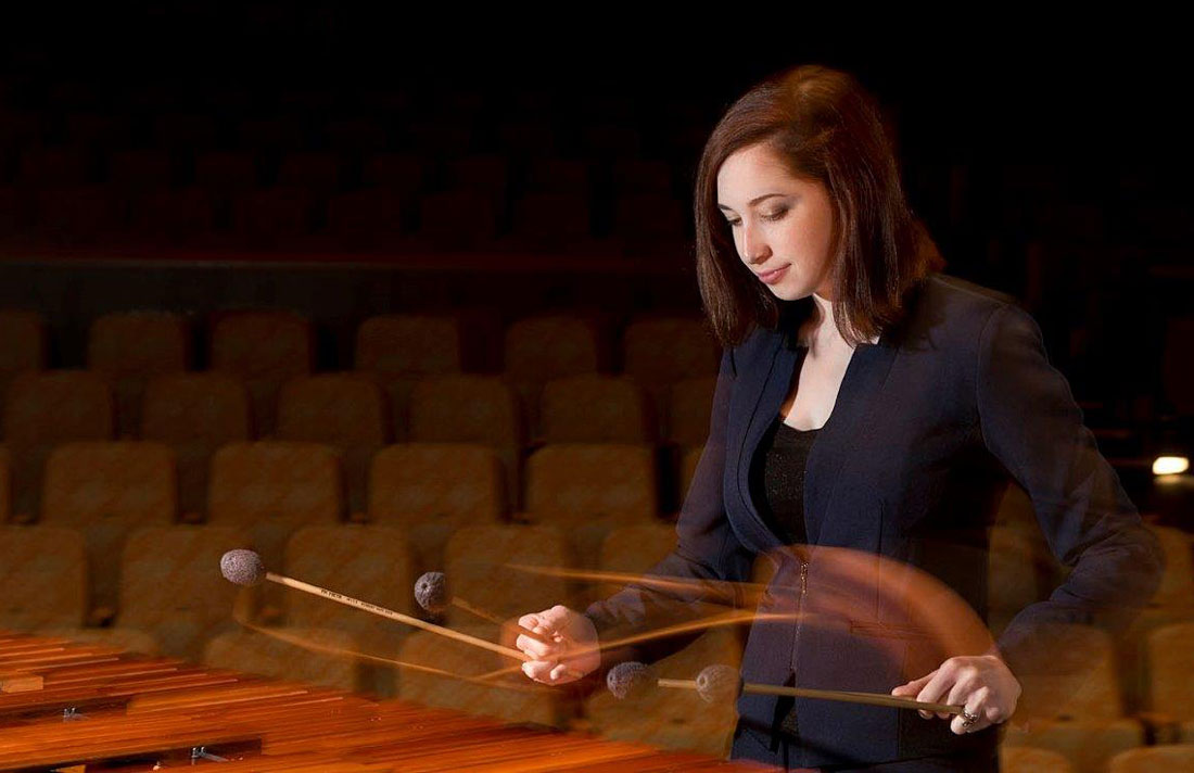 Senior music major Elizabeth Procopio