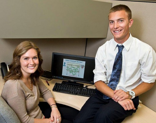 Wright State students Kacie Klarer and David Cobble