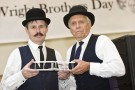 Wright brother impersonators Tom Benson and Roger Storm