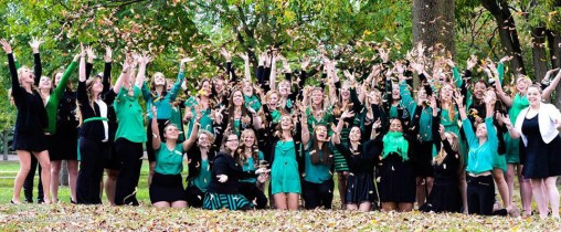 "Wright State's Kappa Delta sorority collaborated with the Women's Center to promote a greater self-confidence in women and girls through a film titled ""Confidence U."""