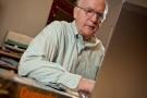 Professor Allen Hunt in his office