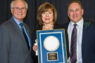 Wright State University President David R. Hopkins and Marilyn and Larry Klaben