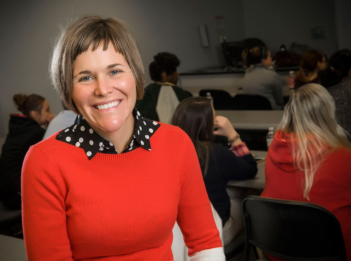 Sally Lamping In Class