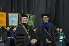 David R. Hopkins with a graduate