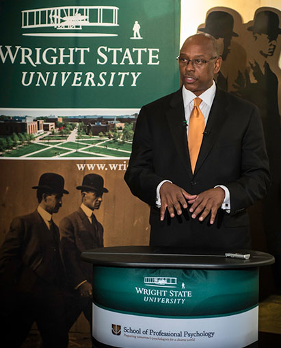 Cedric Alexander speaking at Wright State