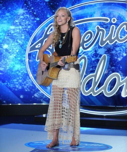 "Alexis Gomez sings in ""American Idol""  audition"