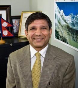 Pramod Kantha in his office