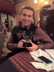 Ian Kallay  with award