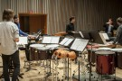 Keith Lockhart instructing percussion students