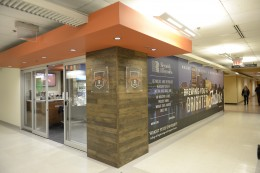 The Reynolds Espresso Lane Coffee Pit Stop is located on the first floor of the Fritz and Dolores Russ Engineering Center on Wright State's Dayton Campus.