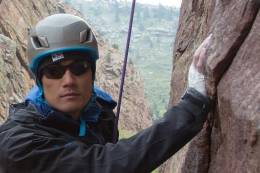 Steve Baskis climbing