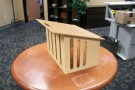 One of eighty proposed designs, the new tabletop podium was designed by 2014 engineering graduate Trent Williams. It was chosen by faculty members to be the best solution that fits their needs.