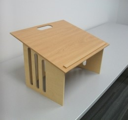 The new tabletop podium is lighter and should help faculty members make their classrooms more functional and flexible.