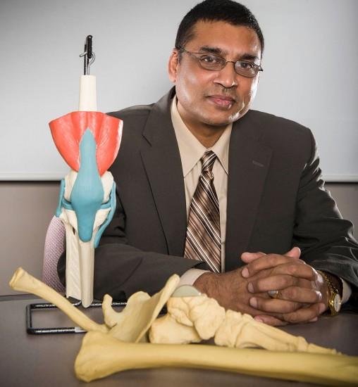 Tarun Goswami in lab