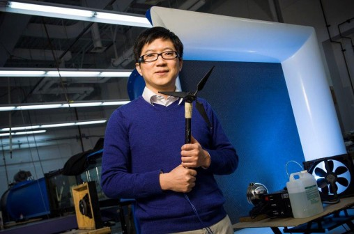 Zifeng Yang with propeller blade