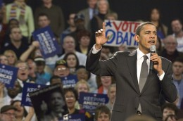 Then-Senator Barack Obama also held a rally on the Nutter Center's main floor in 2008.