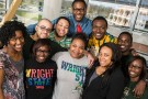 Members of the Wright State chapter of the National Society of Black Engineers