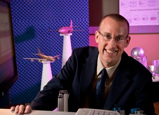 Brian Rigling in lab