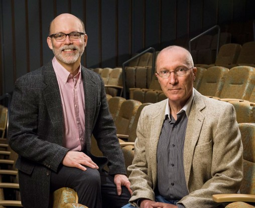 Barry Milligan and Dennis Loranger in Schuster Hall