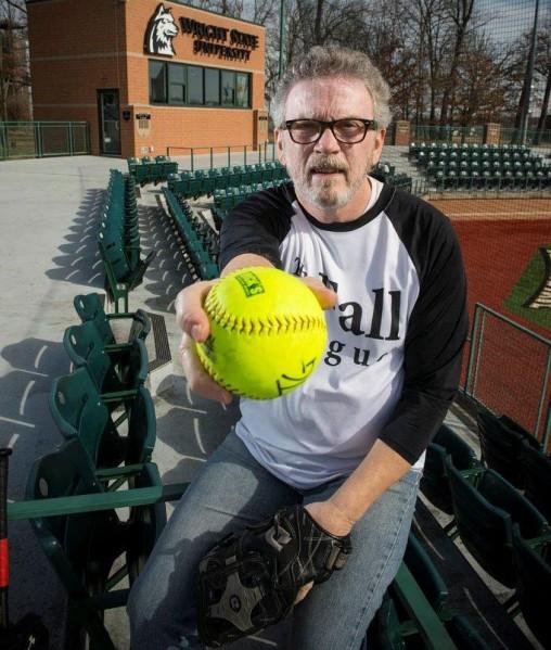 Tim Gebard with softball