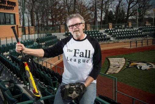 Tim Gebard at Wright State baseball field