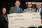 Wright Venture winner with Wright State administrators