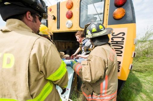 School bus rescue training