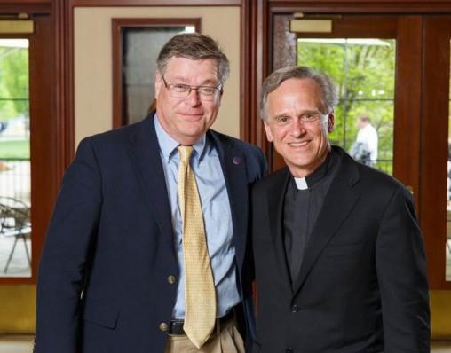 Dane Krane with Notre Dame President Fr. John Jenkins