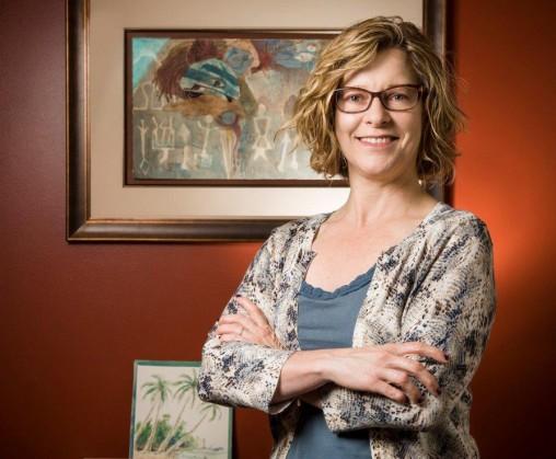 Tamera Schneider in her office