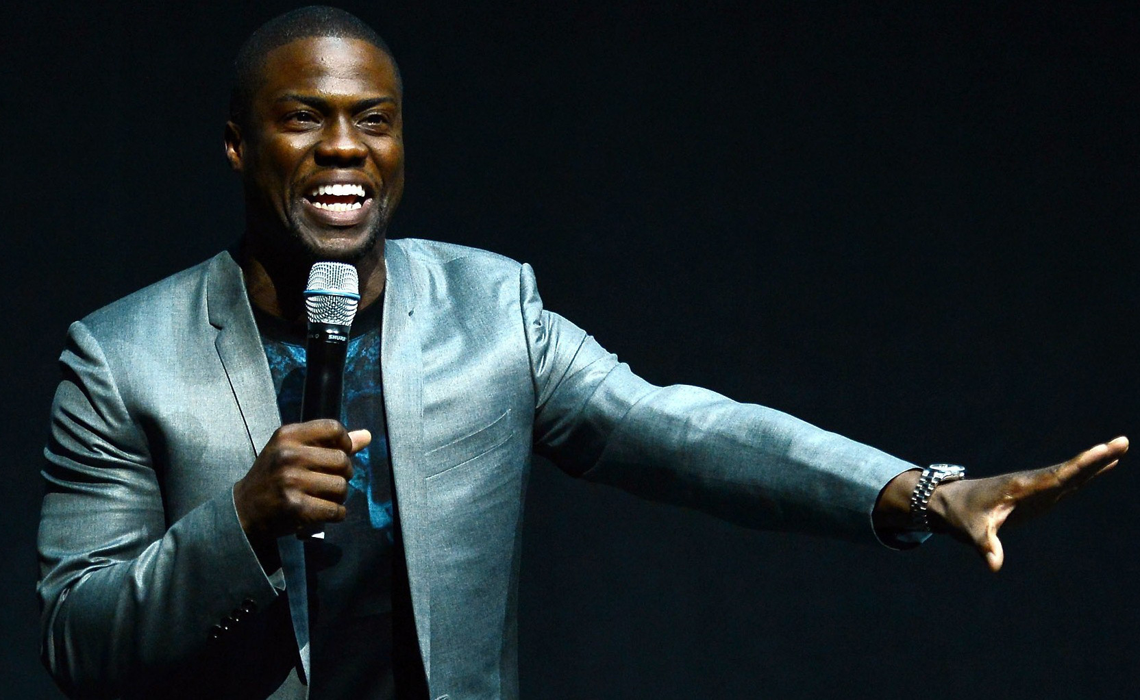 Kevin Hart performing ...
