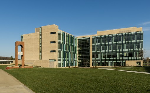 Neuroscience Engineering Collaboration Building facade