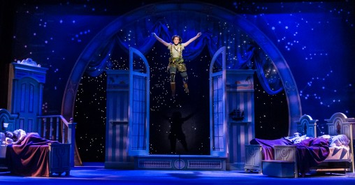 Peter Pan soars over the stage