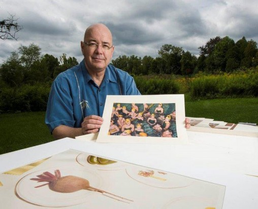 Ron Geibert with one of his photos