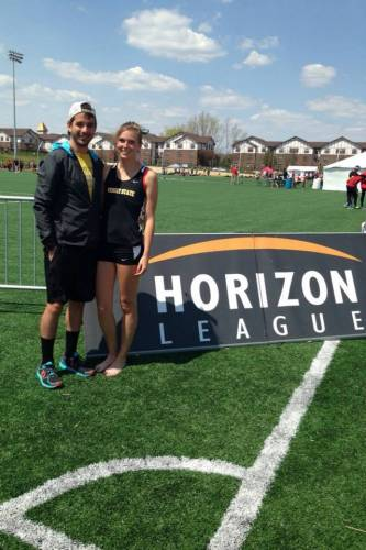 Kevin and Jessica Swartz at cross country course
