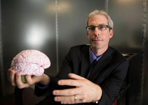 Assaf Harel, an assistant psychology professor and cognitive neuroscientist at Wright State, has built a pioneering lab to probe how the brain processes visual images. (Photos by Will Jones)