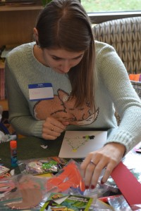 In what has become a staple of Raidersgiving, making Christmas cards for children at Dayton Children's Hospital is one of the activities that students and volunteers look forward to on the holiday.