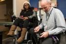 Wright State's wheelchair mechanic