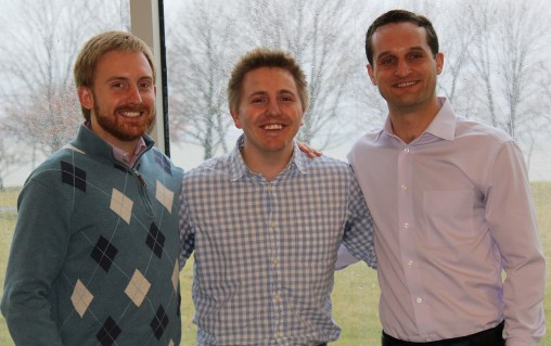 Many Boonshoft School of Medicine students, including Chris Champlin, left, Bryce Kerr and Michael Schneider are participating in rural clinical clerkships in family medicine and pediatrics as part of the Wright Rural Health Initiative.