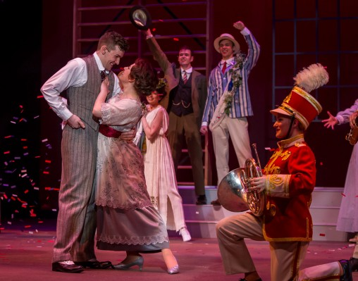 "Wright State Theatre's production of ""The Music Man"" opens Thursday, March 17, and runs through April 3 in the Festival Playhouse in the Creative Arts Center. (Photos by Erin Pence)"