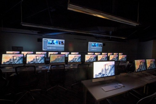The digital technology lab at the newly renovated Center for Motion Pictures. (Photo by Will Jones)