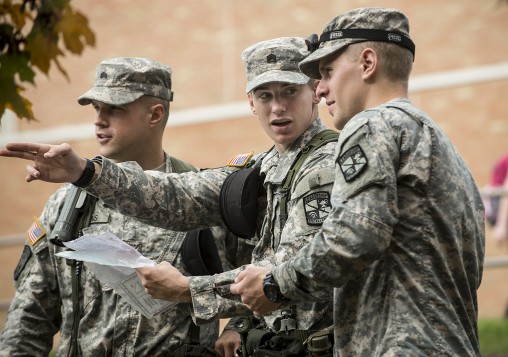 Wright State's Air Force and Army ROTC programs train students to become commissioned officers of the armed forces.