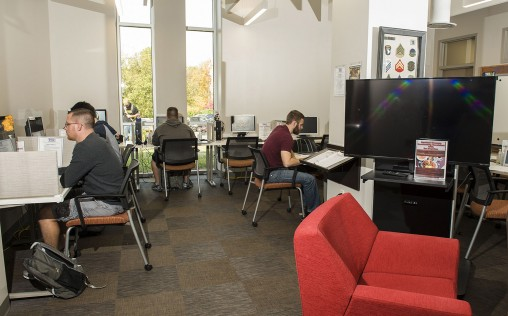 The Veteran and Military Center provides a welcoming space on campus and provides for support services for veteran and military students.