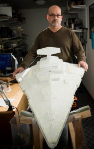 Lee Furry was inspired to resume his model-making hobby after seeing a model of an Imperial Star Destroyer at a traveling Star Wars exhibition.