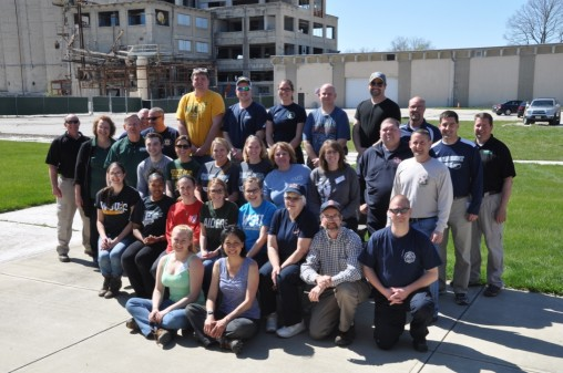 Participants in the four-day onsite advanced disaster life saving course sponsored by the National Disaster Health Consortium and held at the National Center for Medical Readiness in Fairborn, OH.