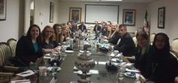 Wright State students and faculty advisers participated in a briefing by the Iranian Mission to the United Nations.