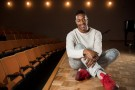 As a freshman, Alimany Barrie would sneak into classes to watch because he loved dance. Now, he is a senior graduating with a bachelor's degree in dance and pre-pharmacy. (Photo by Erin Pence)