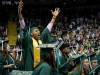 Wright State University's class of 2016, including Joe Thomasson, celebrated during the spring commencement ceremony April 30 in the Nutter Center. (Photos by Will Jones and Erin Pence)